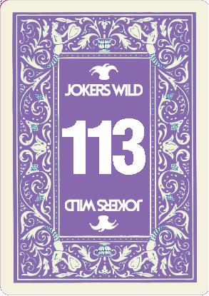 Buy a Jokers Wild Live raffle ticket today! Jokers Wild Card 113