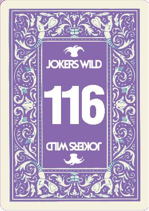 Buy a Jokers Wild Live raffle ticket today! Jokers Wild Card 116