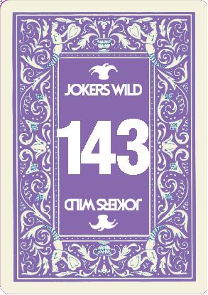 Buy a Jokers Wild raffle ticket today! Jokers Wild Card 143