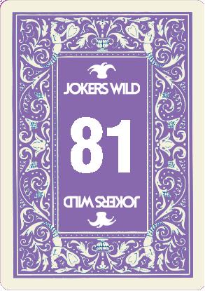 Buy a Jokers Wild Louisville raffle ticket today! Jokers Wild Raffle Card 81