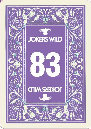 Buy a Jokers Wild Louisville raffle ticket today! Jokers Wild Raffle Card 83